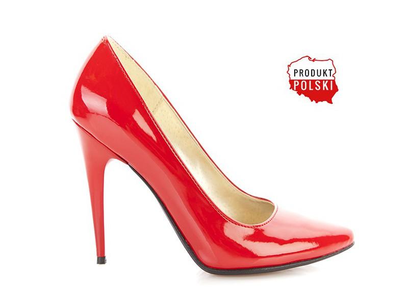 76efdc67b1 Czerwone lakierowane czółenka na szpilce PAULA - Skora24