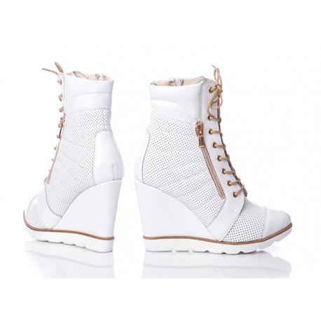LAGARRO botki sneakersy na koturnie