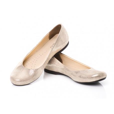 Eleganckie baleriny skórzane klasyczne damskie SERWIN