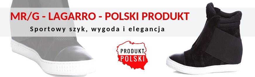 3068406c161a2 Lagarro sportowe buty na koturnie sneakersy MR G
