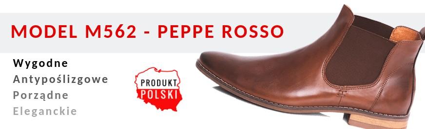 817ab6af M562 botki męskie płaskie skórzane Peppe Rosso ...